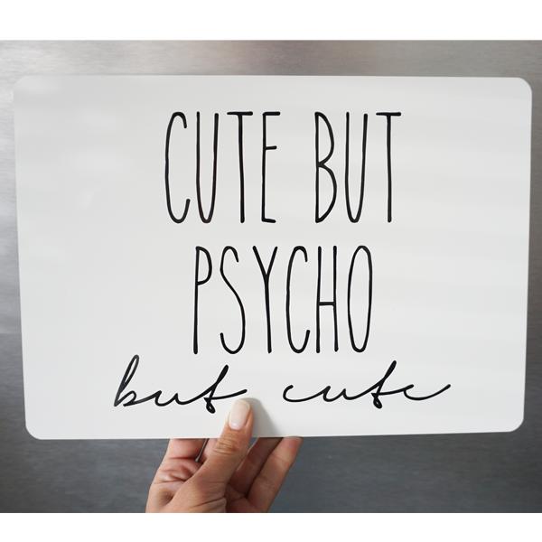 Alu-Verbund Tafel Cute but Psycho