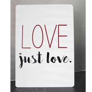 Alu-Verbund Tafel Love just love