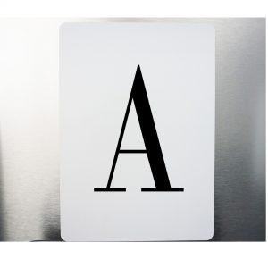 Alu-Verbund Tafel Buchstaben