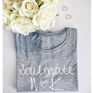 2 Shirts Soulmate inkl. Buchstaben