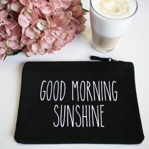 Clutch schwarz Good Morning Sunshine