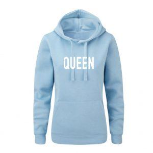 Hoodie Queen hellblau