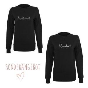 2 Sweatshirts Blondie + Brownie